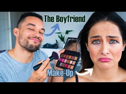 BOYFRIEND DOES MY MAKEUP challenge💄 *HELP* | (nederlands) thumbnail