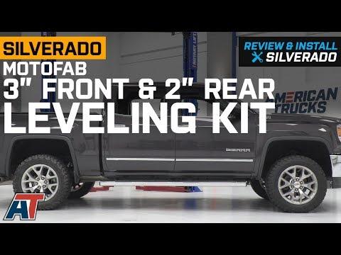 "2007-2018 Silverado MotoFab 3"" Front & 2"" Rear Leveling Kit Review & Install"