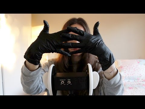 ASMR Latex Gloves Relaxation   Ear Massage Binaural