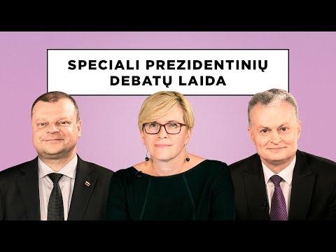 Speciali prezidentinių debatų laida. Saulius Skvernelis, Ingrida Šimonytė ir Gitanas Nausėda