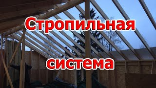 Стропильная система двускатной крыши. Стропильная система каркасного дома с мансардной крышей Спб.