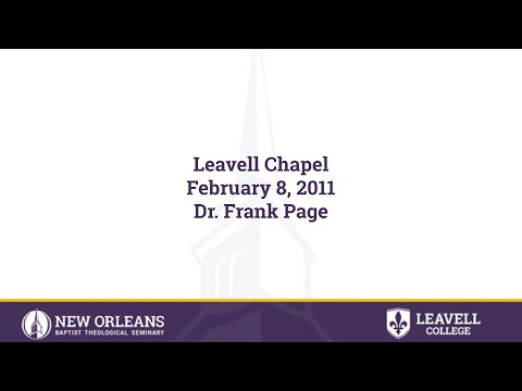 2/8/2011 - Dr. Frank Page; President and CEO of the Southern Baptist Convention