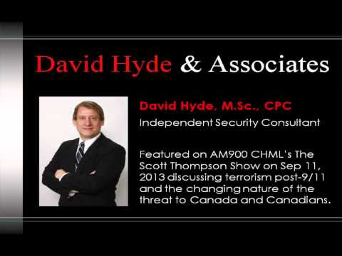 David Hyde AM900 CHML Interview: Terrorism Threat in Canada 12 Years After 9/11, Sep 11th, 2013