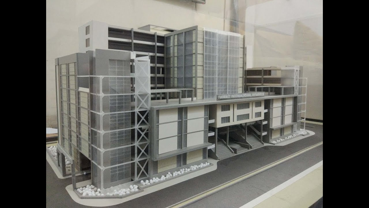 architectural model proposed fareast international university