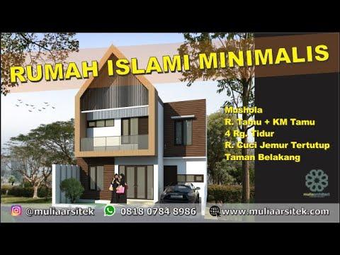 Desain Rumah Islami Cantik Dan Sesuai Syariah Di Kavling Luas 108m2 Mulia Arsitek Kontraktor Youtube