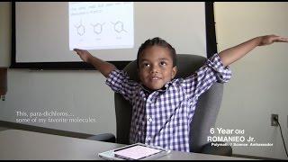Black 6 year old studies college level organic chemistry