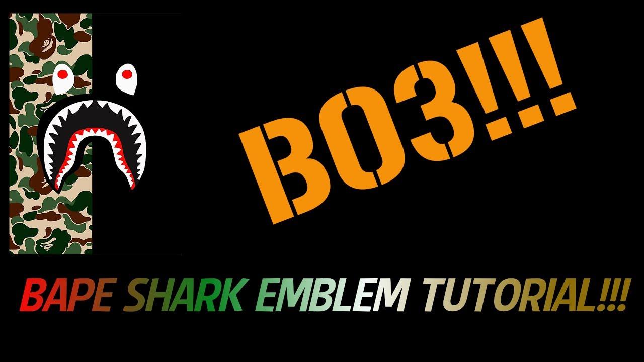 Bape Shark Emblem Tutorial COD Black Ops 3