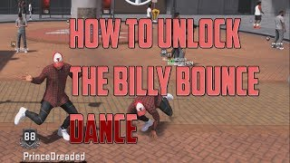 NBA 2K18 - HOW TO UNLOCK THE BILLY BOUNCE DANCE