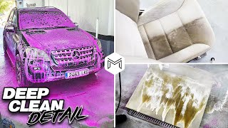 Deep Cleaning a Dirty Mercedes | Full Interior Car Detailing and Vehicle Transformation