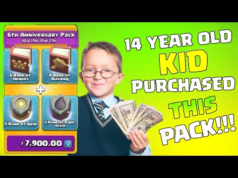 14 Year Old Kid Purchased This Pack In Clash Of Clans