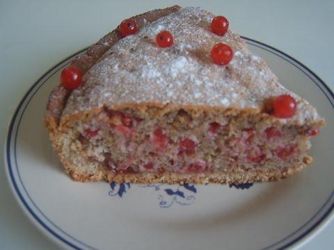 Пирог из красной смородины