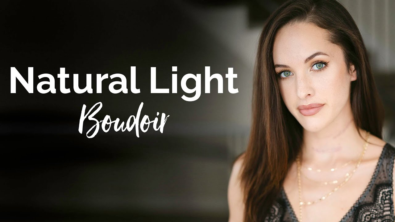 How To Use Natural Light for Boudoir Portrait Photography!! 3 Tips!