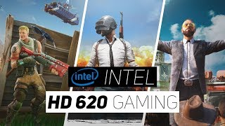Intel HD 620 Gaming Performance 2018!