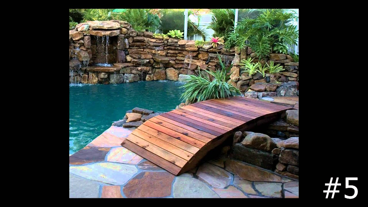 top 10 natural stone and wooden bridges by lucas lagoons youtube