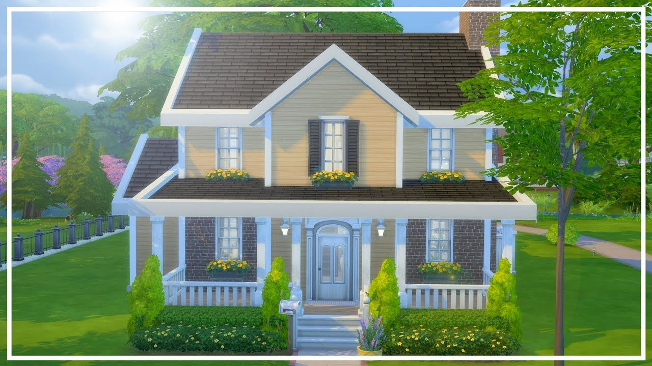 Yellow Not So Berry House The Sims 4 Speed Build Youtube