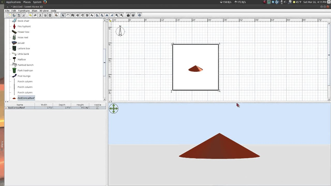 Sweet Home 3d Download Conical Roof Youtube