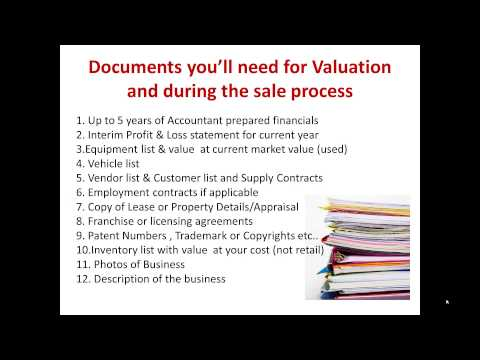 How To: Documents you'll need for Valuation and during the sale process