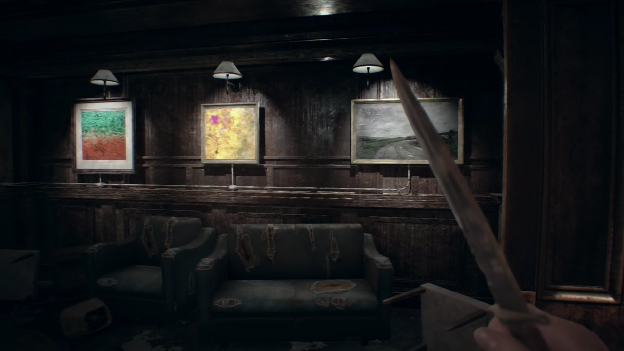 Resident Evil 7 Biohazard Painting Puzzle On Tanker