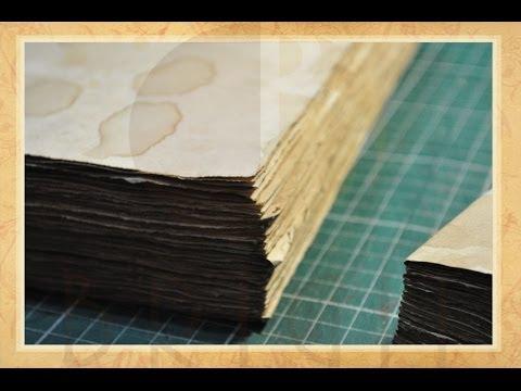 Envelhecendo Papel - Vídeo (Aging Paper)