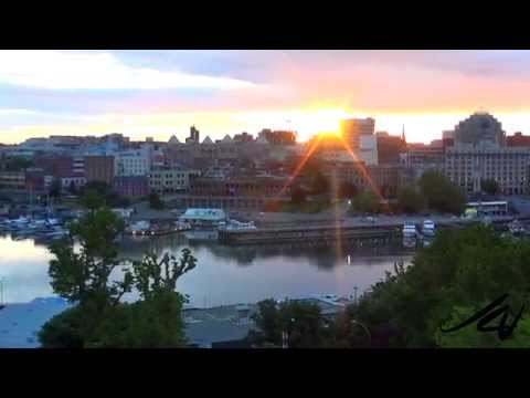 Victoria BC Sunrise -  Spectacular From Harbor Tower Hotel -  YouTube
