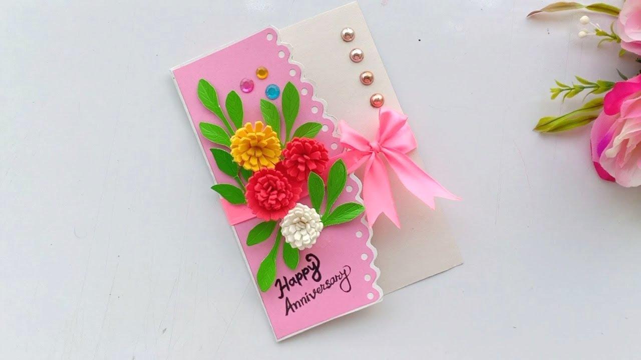 a beautiful anniversary card idea  how to make