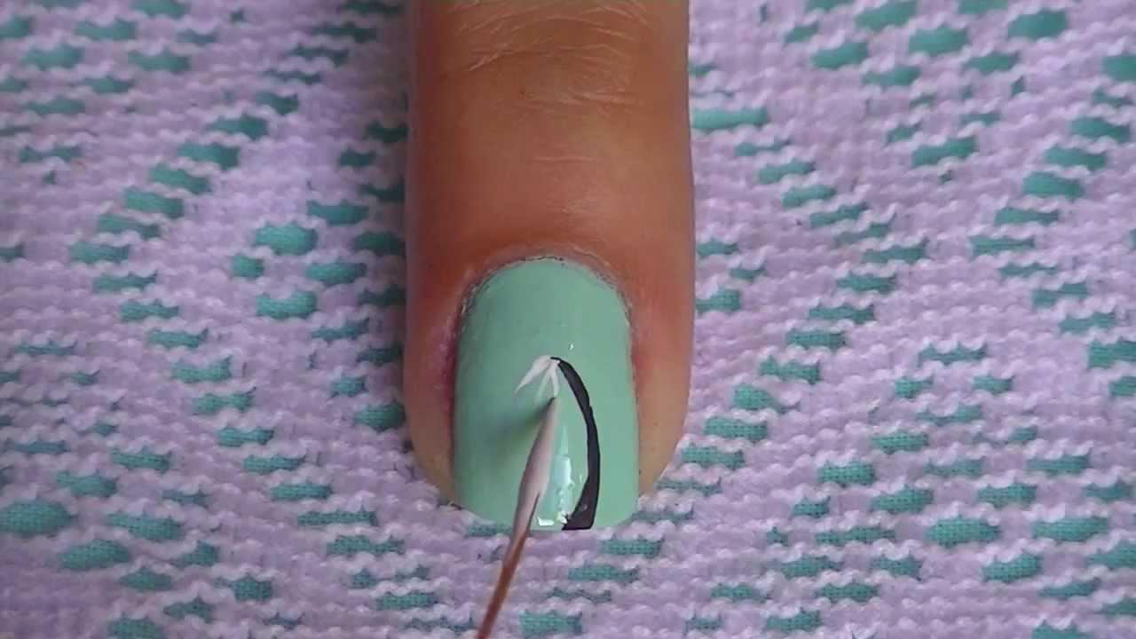 Dandelion Nails Art Design - YouTube