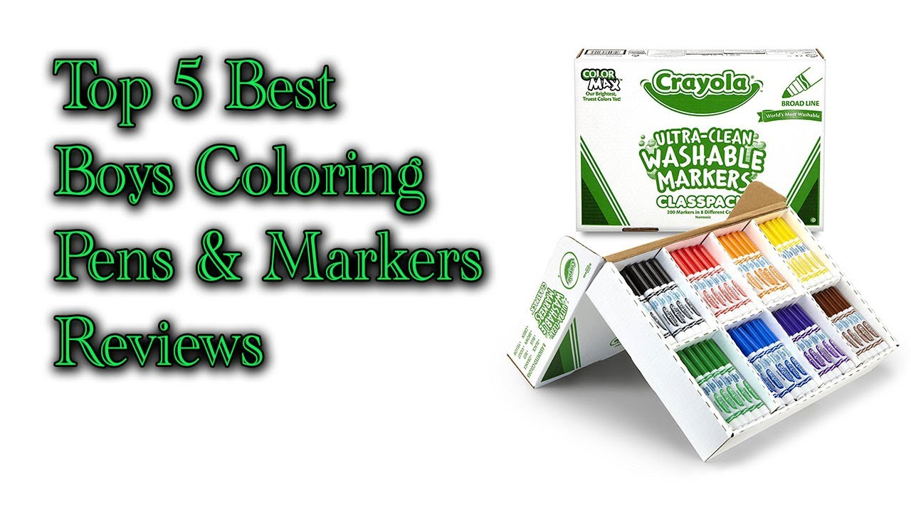 Top 5 Best Boys Coloring Pens & Markers Reviews