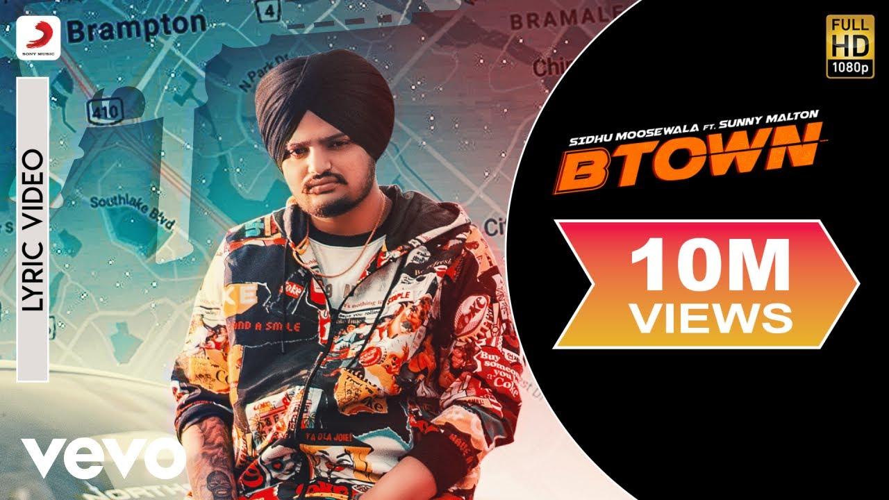 B-Town - Official Lyric Video   Sidhu Moose Wala   B-Town ft. Sunny Malton