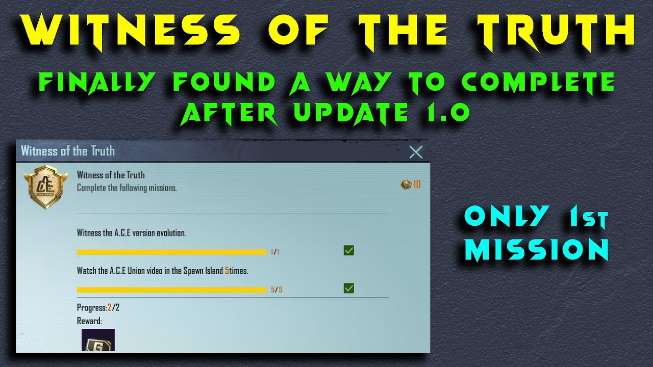 Download HOW TO COMPLETE WITNESS OF THE TRUTH PUBG MOBILE ACHIEVEMENT | BIG CHANGE AFTER UPDATE  | HG