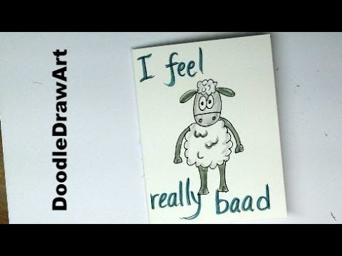 Drawing How to Draw a Sheep Belated Birthday Card Easy step by – How to Draw a Birthday Card