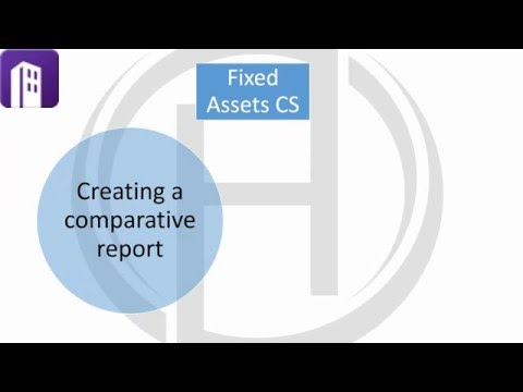 Fixed Assets CS - Comparative Reports