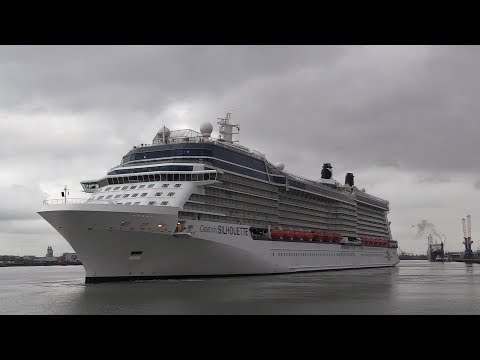 Celebrity Silhouette first of many cruises from Southampton  28/04/18