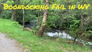 Boondocking Fail — Ląke Sherwood Rd Dispersed Campsites in WV
