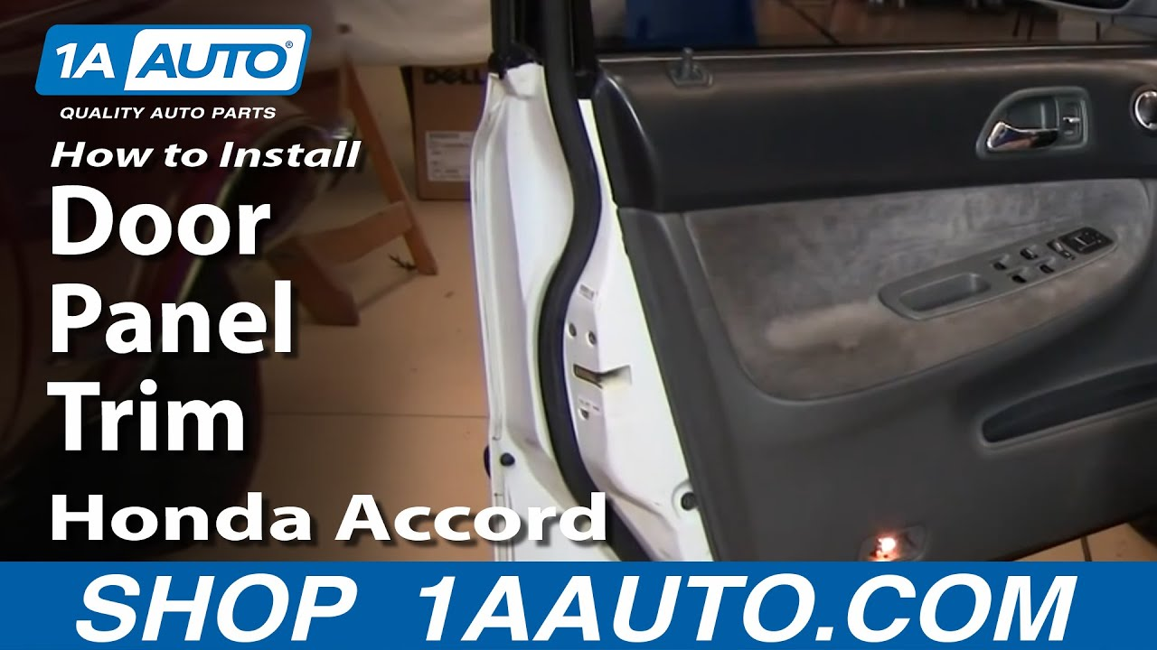 How To Replace Front Door Panel Trim 9497 Honda Accord  YouTube