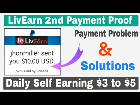 LivEarn Website 2nd Payment Proof 🔥| Daily Self Earning $3 to $5 Easily