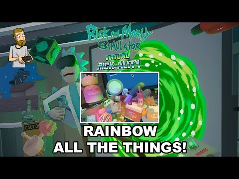 MEGA SEED ALL THE THINGS (RAINBOW/TRIPPY) | Rick and Morty Simulator: Virtual Rick-Ality