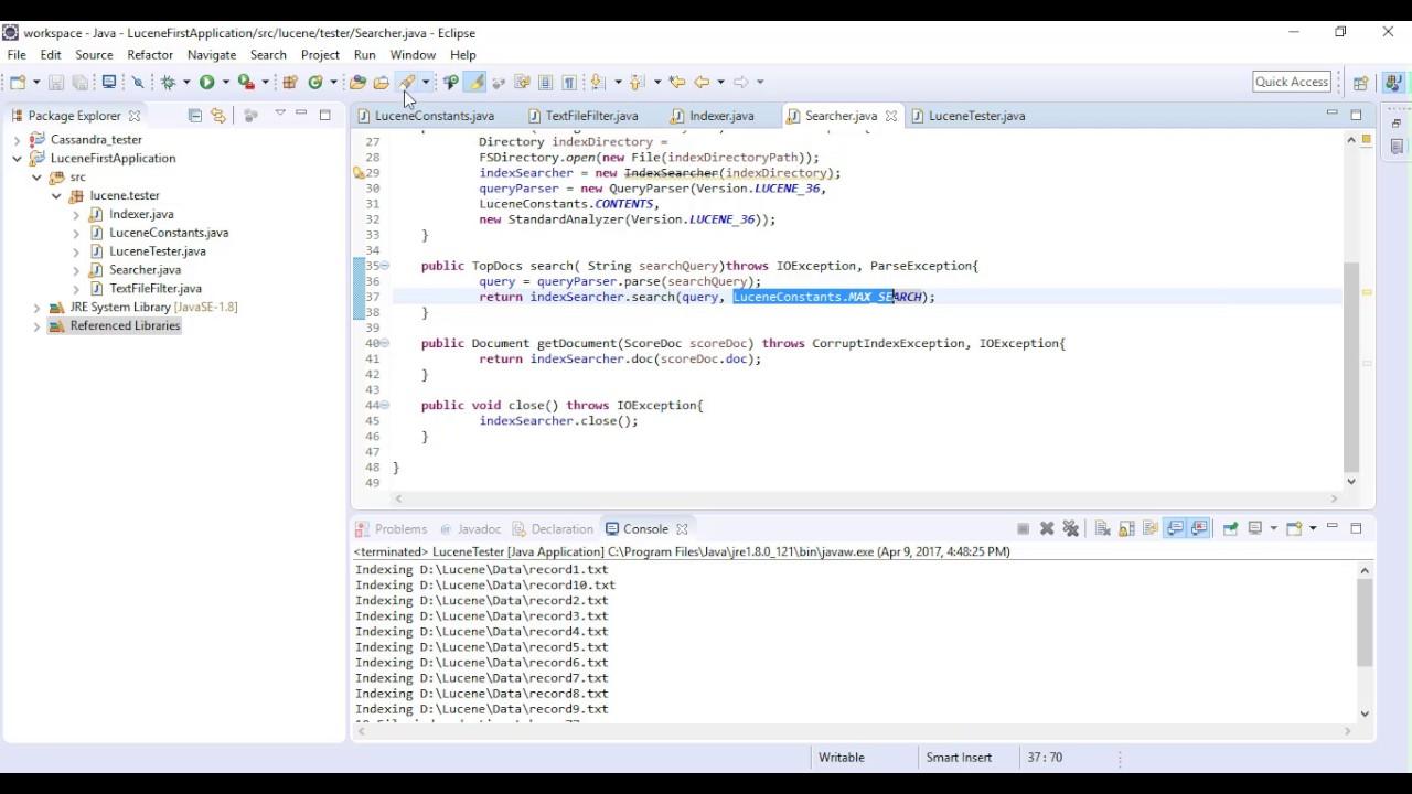 Lucene application using java youtube lucene application using java baditri Gallery
