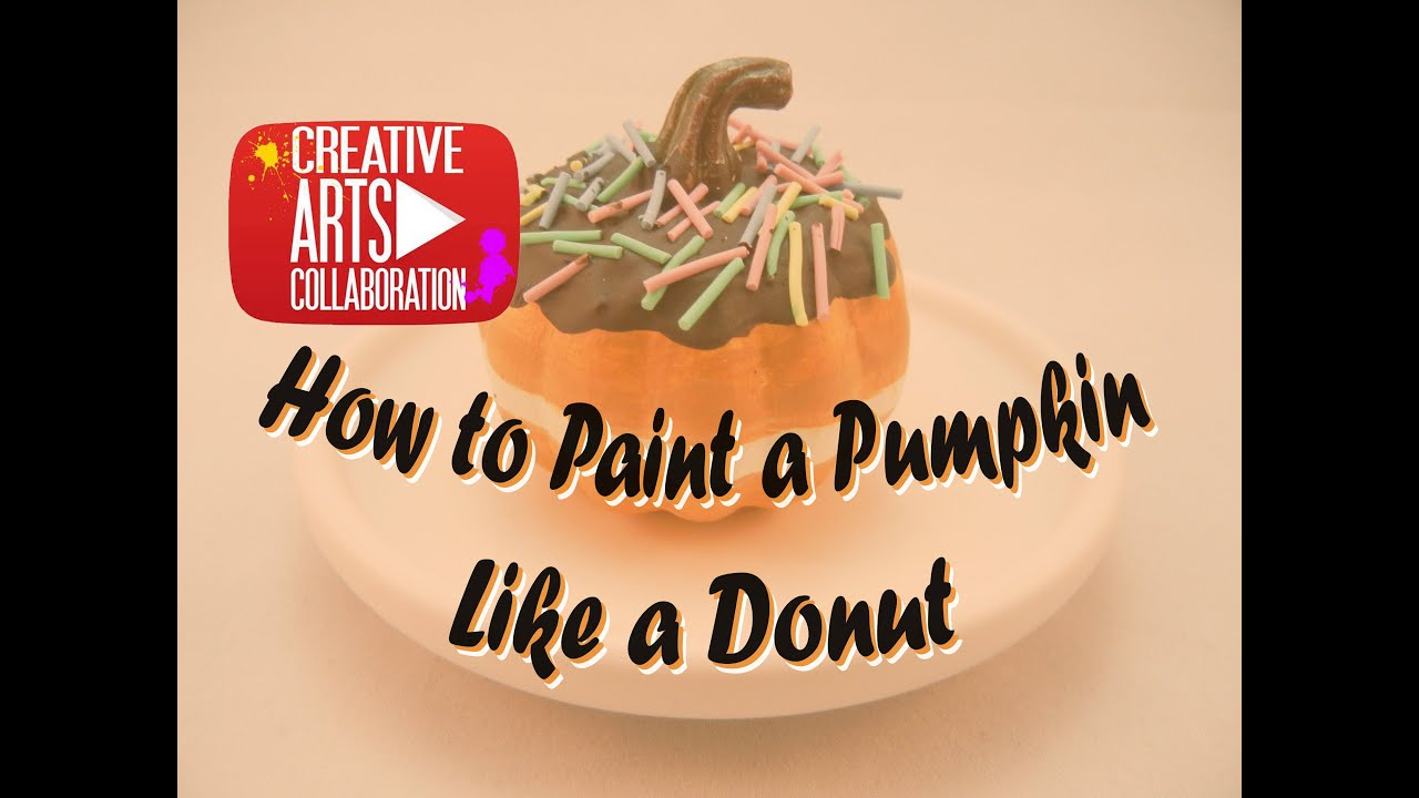Small Pumpkin Painting Lovefallart How To Paint A Mini Pumpkin To Look Like A Donut