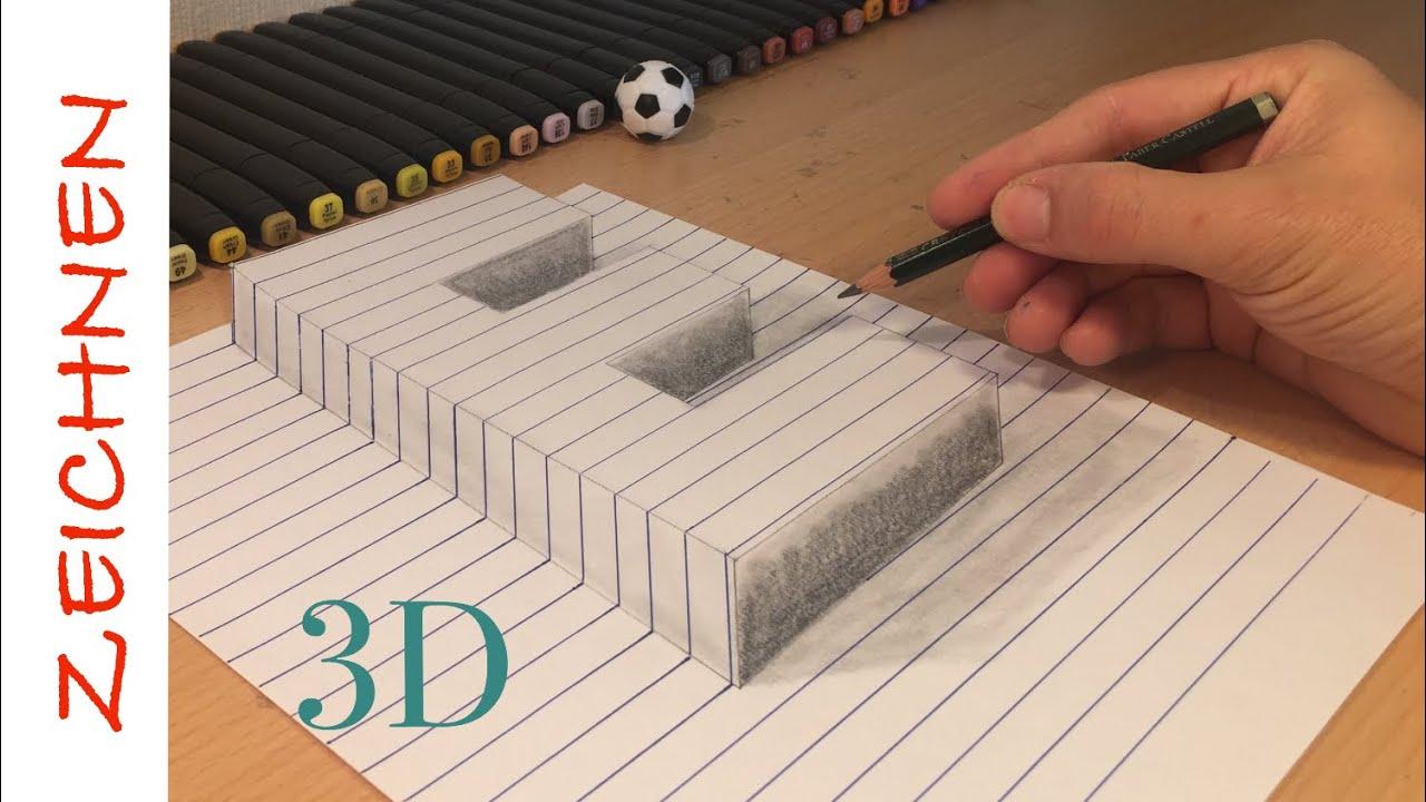 3d zeichnen lernen für anfänger buchstaben e  how to draw