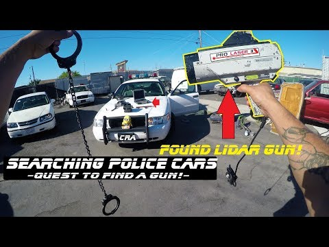 Searching Police Cars Found LIDAR GUN! Ford Crown Victoria Cop Explore