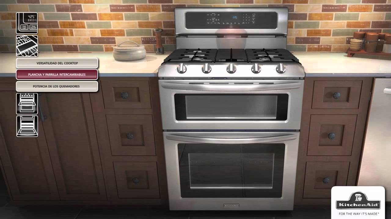 Estufas con horno doble kitchenaid youtube - Estufas para casa ...