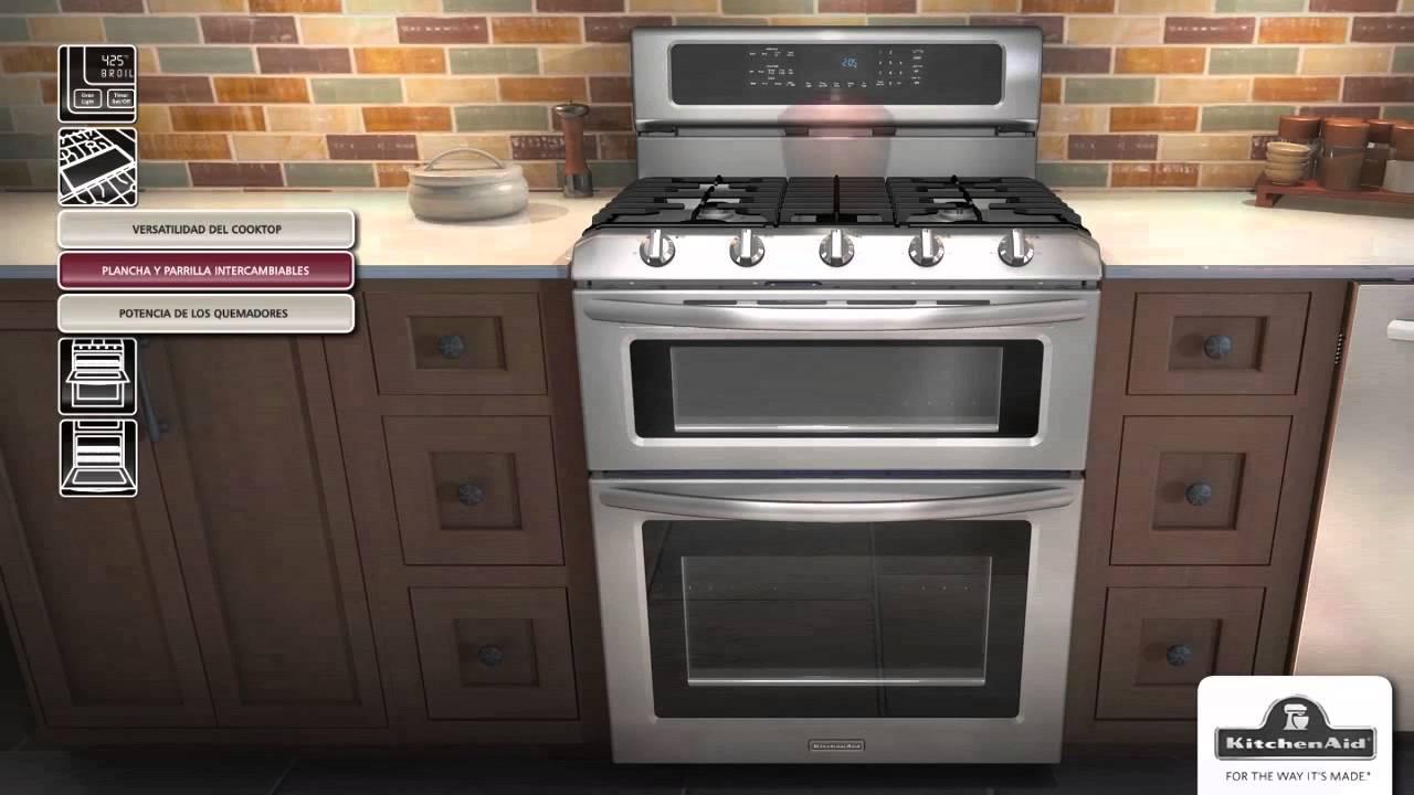 estufas con horno doble kitchenaid youtube