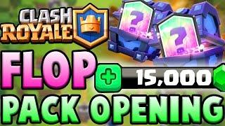 MEGA PACK OPENING | 15.000 GEMMES, LE PIRE FLOP ? | Clash Royale