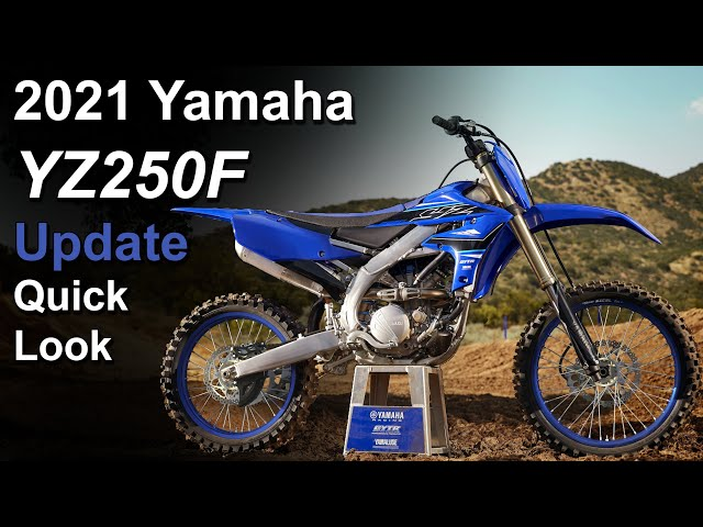 2021 Yamaha YZ250F - What's New - Update Overview