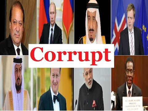 Top 10 Most Corrupt Politicians in the World 2017