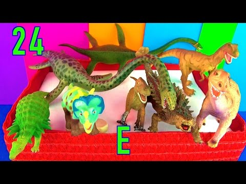 DINOSAUR Box 24 TOY COLLECTION Letter E Jurassic World Dino Kids Toy Review SuperFunReviews