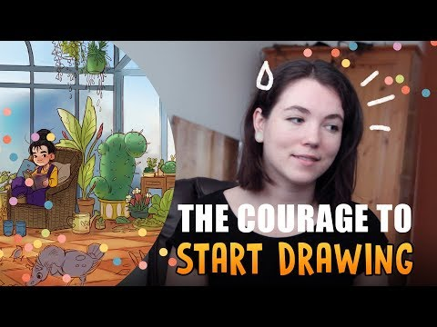 The courage to start drawing • Artist features ( art vlog )
