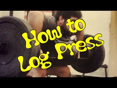 How to clean and press a Log like a STRONGMAN