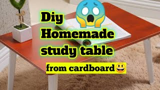 Diy study table Homemade study table Diy study table with cardboard for kids Study table making