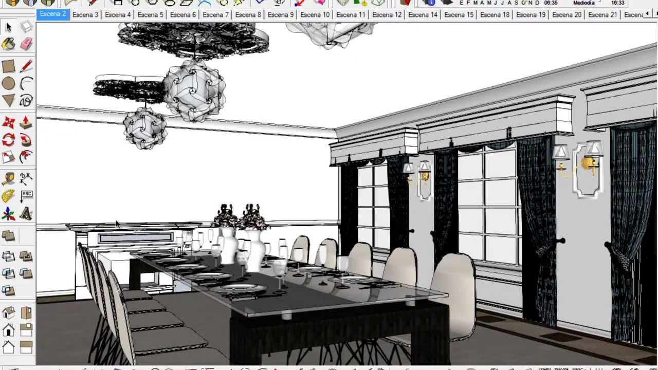 Iluminacion Interior Vray 3 4 Sketchup
